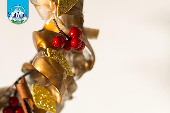 realizzare un portacandele natalizio