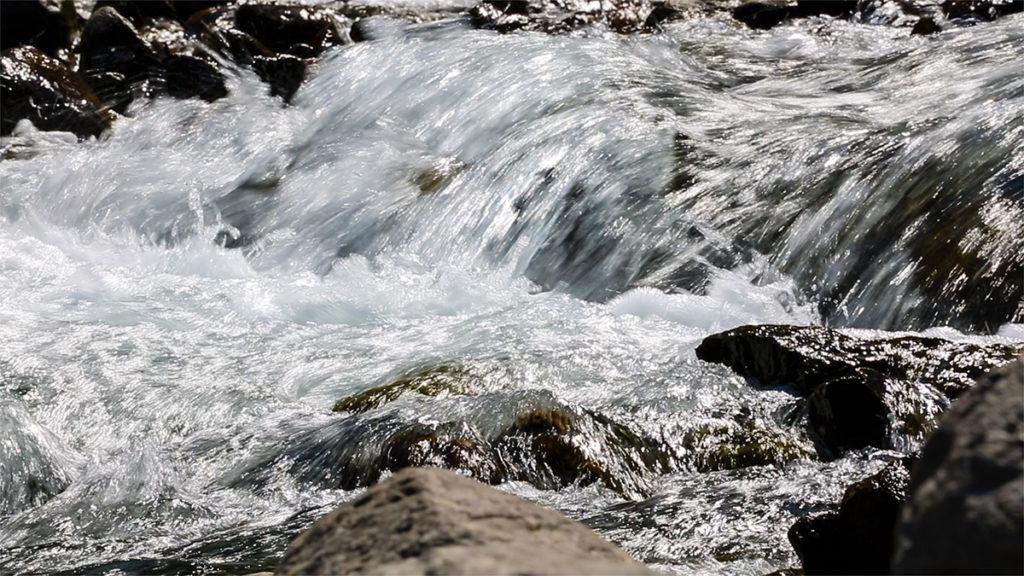 Torrente di montagna, fonte di Vinadio